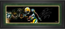 Eddie Lacy Green Bay Packers Framed Autographed 10'' x 30'' Filmstrip Photograph - Mounted Memories