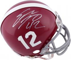 Eddie Lacy Alabama Crimson Tide Autographed Riddell Mini Helmet - Mounted Memories
