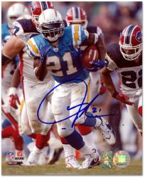 LaDainian Tomlinson San Diego Chargers Autographed 8'' x 10'' vs Buffalo Bills Photograph - Mounted Memories