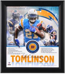 San Diego Chargers LaDainian Tomlinson Framed Collage with Game-Used Football- Limited Edition of 521 - Mounted Memories