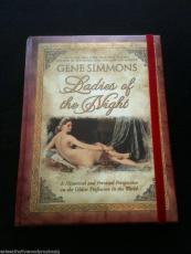 """""""Ladies Of The Night"""" Gene Simmons Hand Signed Hard Cover Coffee Book W/COA (Obtained from an employee of one of his doctor's)"""