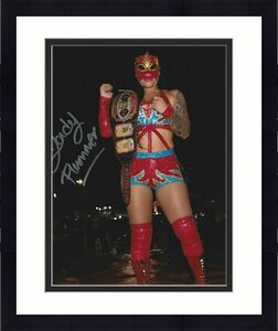Lady Flammer Signed 8x10 Photo The Crash AAA Lucha Libre Picture Autograph 31