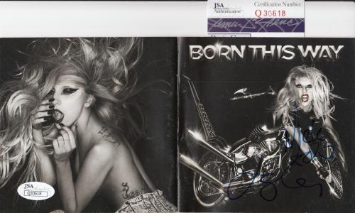 Lady Gaga autographed *Born This Way* CD cover JSA Authenticated Q30618
