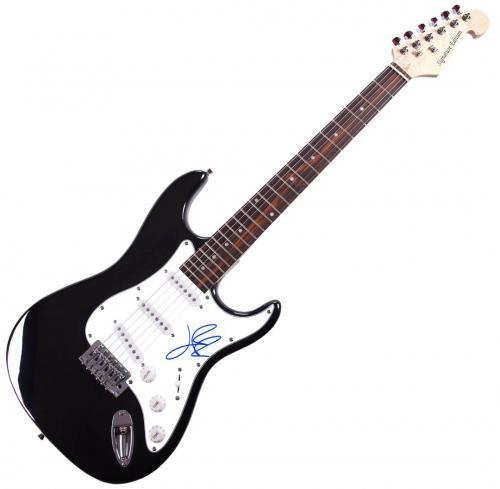 Lady Gaga Autographed Signed Guitar AFTAL UACC RD COA
