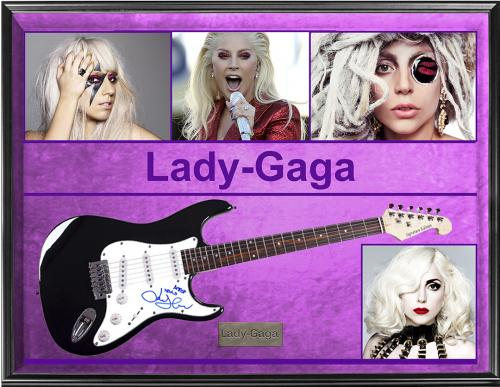 Lady Gaga Autographed Guitar With Inscription + Display & Proof UACC RD AFTAL