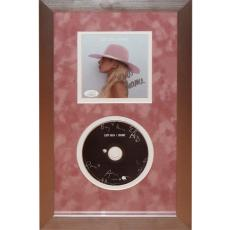 Lady Gaga Autographed Super Bowl Intro Deluxe Framed Joanne CD Piece