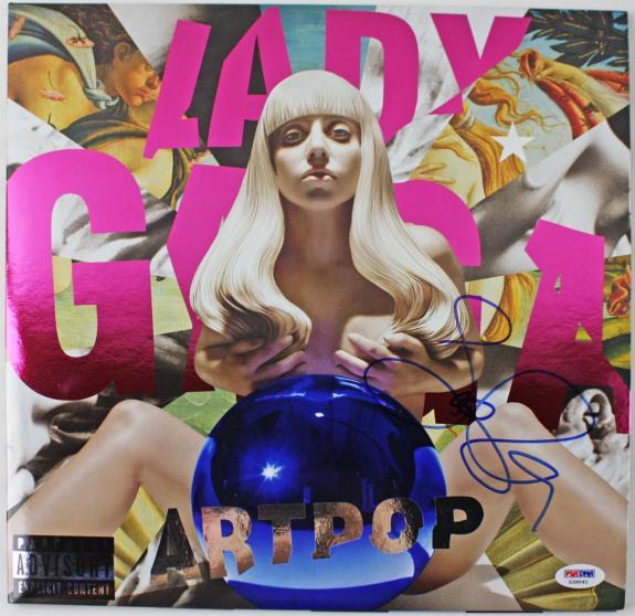 Lady Gaga Rare Signed Artpop Ball Record Album  Psa/dna #x39041