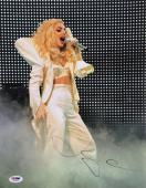 Lady Gaga Signed 11x14 Concert Photo PSA U45981