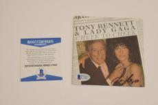 Lady Gaga Signed Autograph CHEEK TO CHEEK CD Booklet Tony Bennett BAS COA