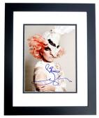 Lady Gaga Signed - Autographed Singer - Songwriter 8x10 inch Photo - BLACK CUSTOM FRAME - Guaranteed to pass PSA or JSA - Stefani Germanotta