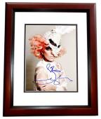 Lady Gaga Signed - Autographed Singer - Songwriter 8x10 inch Photo - MAHOGANY CUSTOM FRAME - Guaranteed to pass PSA or JSA - Stefani Germanotta