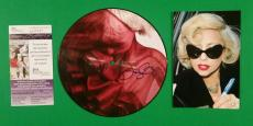 "Lady Gaga Signed ""bad Romance"" Picture Disc Record With Photo Proof And Jsa Coa"