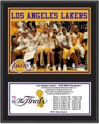 "Los Angeles Lakers 2010 NBA Finals Champions 12"" x 15"" Plaque"