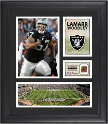 LaMarr Woodley Oakland Raiders Framed 15'' x 17'' Collage with Game-Used Football