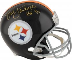 Jack Lambert Pittsburgh Steelers Autographed Riddell Replica Helmet with HOF 90 Inscription