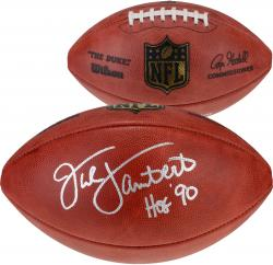 Pittsburgh Steelers Jack Lambert Signed Football - Mounted Memories