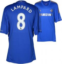 Frank Lampard Signed Jersey - F.C. Blue Home Back Mounted Memories