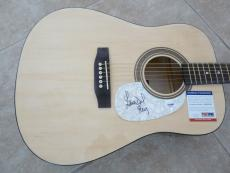 Lana Del Ray Sexy IP Signed Autographed Acoustic Guitar PSA Certified