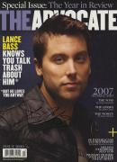 Lance Bass Autographed NSYNC Gay Rights Activisit The Advocate Magazine UACC RD