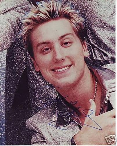 LANCE BASS signed *DANCING WITH THE STARS* 8X10 NSYNC