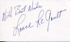 Lance Legault Actor In Elvis Presley Films Stunt Double Signed Card Autograph