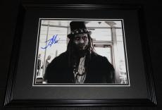 Lance Reddick Signed Framed 8x10 Photo AW American Horror Story The Wire