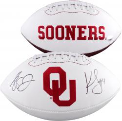 Landry Jones & Kenny Stills Oklahoma Sooners Autographed Whie Panel Football