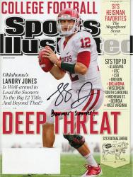 Landry Jones Oklahoma Sooners Autographed Sports Illustrated Magazine with Boomer Sooner Inscription