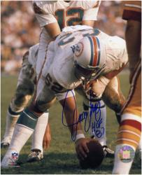Jim Langer Miami Dolphins Autographed 8'' x 10'' Action Photograph - Mounted Memories