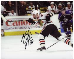 "Chicago Blackhawks Martin Lapointe Autographed 8"" x 10"" Photo"