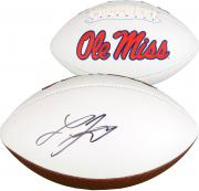 Laquon Treadwell Ole Miss Rebels Autographed White Panel Football