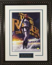 Lara Croft Tomb Raider unsigned 22x30 Masterprint Movie Poster Custom Black Rope Framed w/ Angelina Jolie (entertainment/photo)