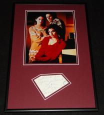 Lara Flynn Boyle Signed Framed 12x18 Photo Display JSA Twin Peaks
