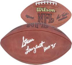 Steve Largent Seattle Seahawks Autographed Pro Football with HOF 95 Inscription - Mounted Memories