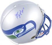 Steve Largent Seattle Seahawks Autographed Riddell Pro-Line Authentic Helmet with HOF 95 Inscription