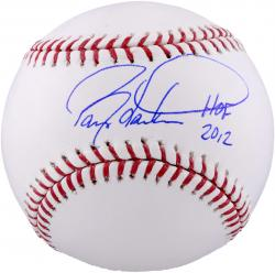 Barry Larkin Cincinnati Reds Autographed Baseball with HOF 2012 Inscription - Mounted Memories