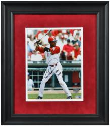 Framed Barry Larkin Autographed 8x10 Photo - HOF 2012