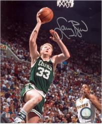Larry Bird Boston Celtics Autographed 8'' x 10'' vs. Indiana Pacers Photograph - Mounted Memories