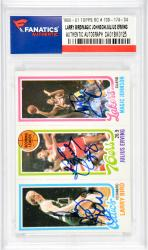 Larry Bird/Julius Erving/Magic Johnson Boston Celtics/Philadelphia 76ers/Los Angeles Lakers Autographed 1980-81 Topps Rookie #139-174-34 Featuring Larry Bird and Magic Johnson Rookies