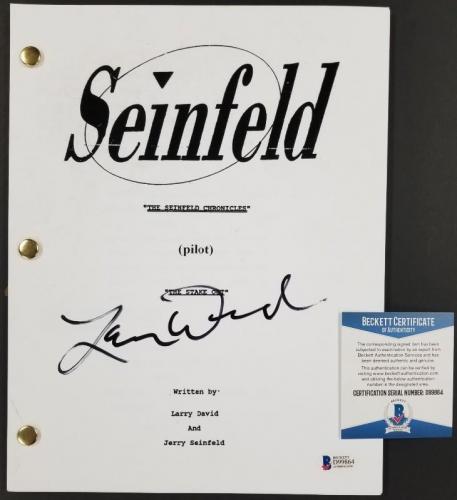 LARRY DAVID Autograph Signed SEINFELD TV Pilot Script B~ BAS Beckett COA