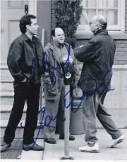 Larry David Jason Alexander Signed 8x10 Photo Seinfeld Authentic Autograph Coa A
