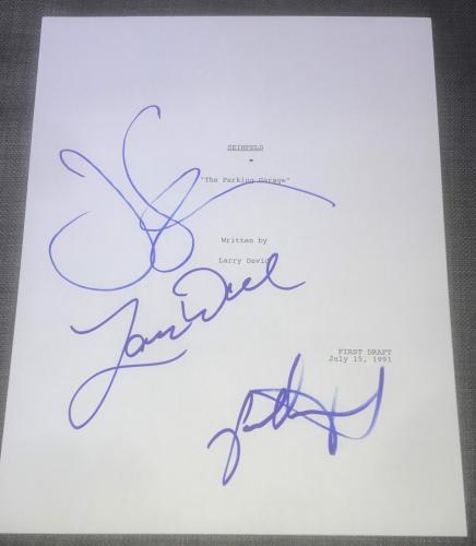 "Jerry Seinfeld Larry David Jason Alexander Signed ""parking Garage"" Show Script"