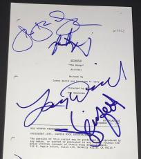 "Larry David & Jason Alexander Signed Autograph Seinfeld ""the Mango"" Show Script"