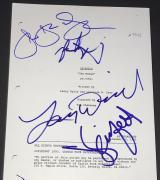 Larry David Jerry Seinfeld, Jason & Julia Cast Signed Autograph The Mango Script
