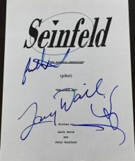 """Larry David & Jason Alexander Signed Autograph Seinfeld """"the Stake Out"""" Script"""