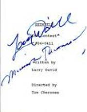 Larry David & Michael Richards Signed Autographed SEINFELD The Contest Script VD