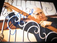 LARRY DAVID SIGNED AUTOGRAPH 8x10 PHOTO CURB YOUR ENTHUSIASM SEINFELD COA AUTO G