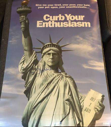 """LARRY DAVID SIGNED AUTOGRAPH """"CURB YOUR ENTHUSIASM"""" FULL SIZE SHOW 24x36 POSTER"""