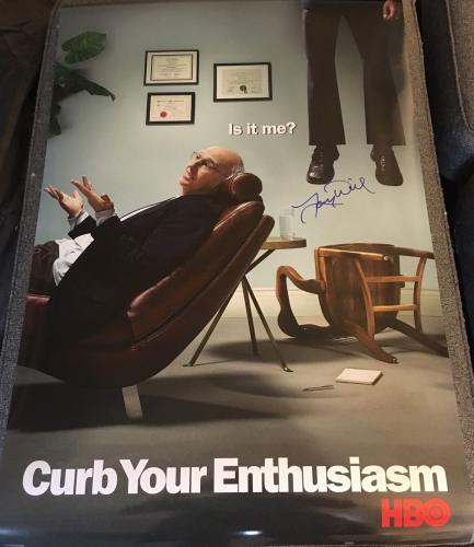 """Larry David Signed Autograph """"curb Your Enthusiasm"""" Full Size Show Promo Poster"""