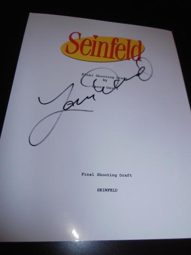 "Larry David Signed Autograph ""seinfeld"" Script Full Script Television Coa Ny X2"